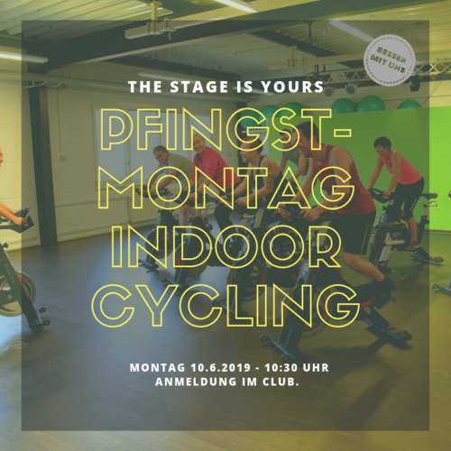Indoor cycling am Pfingstmontag